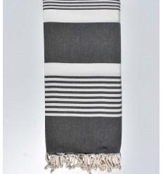 Dark blue Beach towel double dimension white stripes 2m / 2m