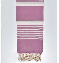 Double-size purple beach towel with stripes 2m / 2m