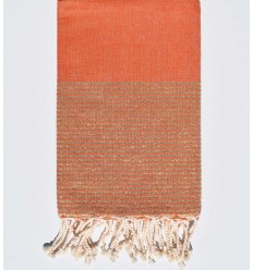 Lurex plate orange corail