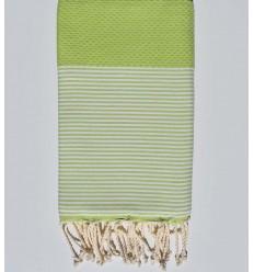 Pistachio green honeycomb beach towel