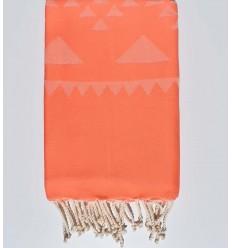 Salmon bohemian beach towel