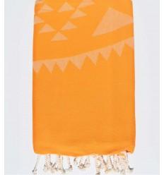 Yellow mustard Bohemian beach towel