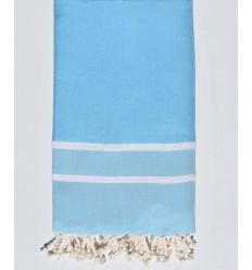 Serviette de plage chevron bleu maya