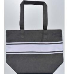 Gray taupe beach bag
