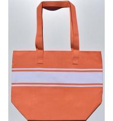 Coral orange beach bag