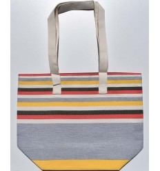 Beach bag 5 colors gray, red, cream white, forest green and yellow