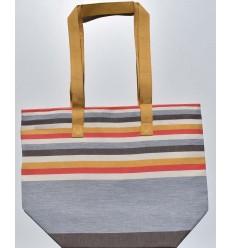 sac 5 couleurs gris clair,rouge,écru clair,moutarde et marron