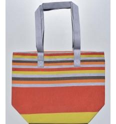 Sac de plage 5 couleurs coreil foncé,gris clair,orange,marron et jaune
