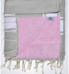 Pastel gray sponge beach towel
