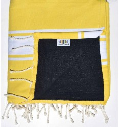 Yellow and Midnight blue Beach towel sponge