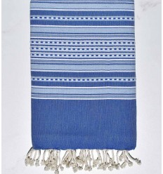 Serviette de plage arabesque bleu et bleu fumée