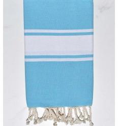 Fouta classique bleu azur clair
