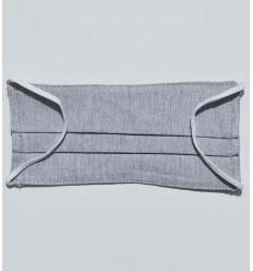 silver grey face mask