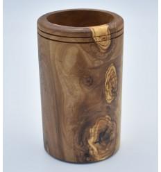 Pot à ustensiles en bois d'olivier