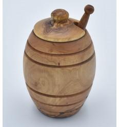 Pot à miel en bois d'olivier
