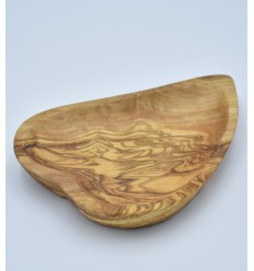 Ravier cœur en bois d'olivier