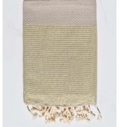 Beach towel lurex Honeycomb dark beige