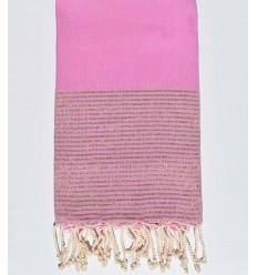 Fouta lurex couleur rose violacé