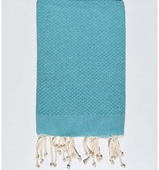 plain honeycomb green blue beach towel