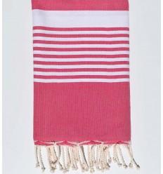 arthur pink beach towel with stripes