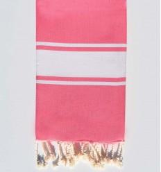 Fouta plate couleur rose moyen