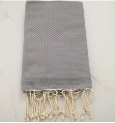 beach towel flat cinnamon scratched White cream