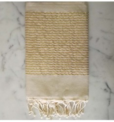 flat light almond lurex fouta