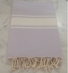 beach towel flat  lavender