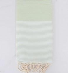 Beach towel Honeycomb pastel light green