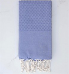 plain honeycomb Blue-violet fouta