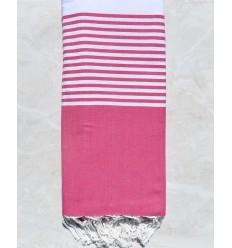 pink throw