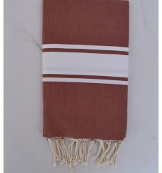 beach towel flat   Senois   White strip