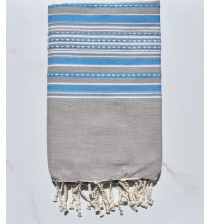 Arabesque taupe et bleu