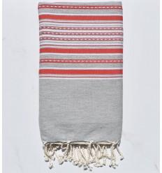 Arabesque gris et rouge