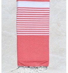 medium sunkist coral throw