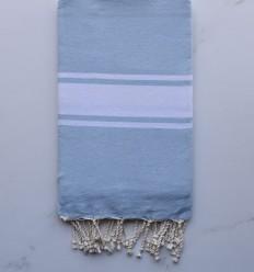 Fouta plate bleu clair
