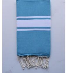 Fouta plate bleu azur