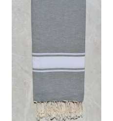 Big gray fouta with white stripe 2m*2m