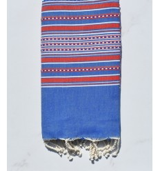 Arabesque blue and red fouta