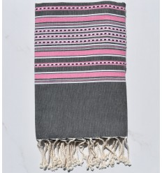 Arabesque gray and pink fouta