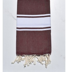 beach towel flat amaranth, dark