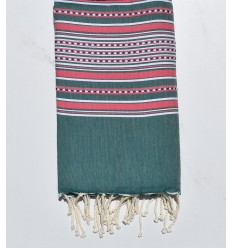 Arabesque green and pink fouta