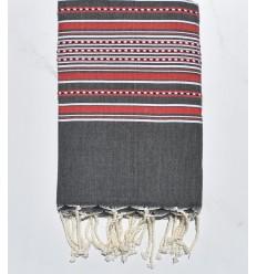 Arabesque gris moyen et rouge