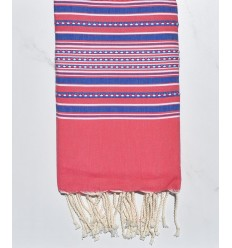 Arabesque pink and blue fouta