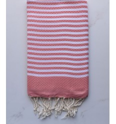 honeycomb zebra pink crimson beach towel