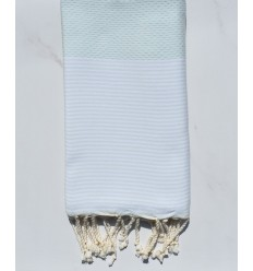 each towel Honeycomb azure mist with stripes