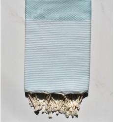 Beach towel Honeycomb light blue green