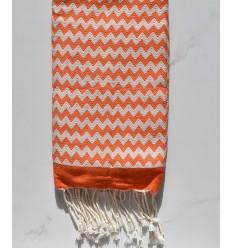zigzag orange fouta