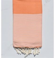 honeycomb royal orange beach towel