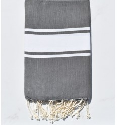 Flat gray taupe fouta